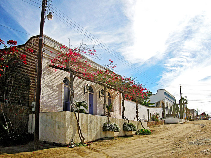 Beautiful building in Todos Santos, Baja California Sur, dirt road, travel, Vacation