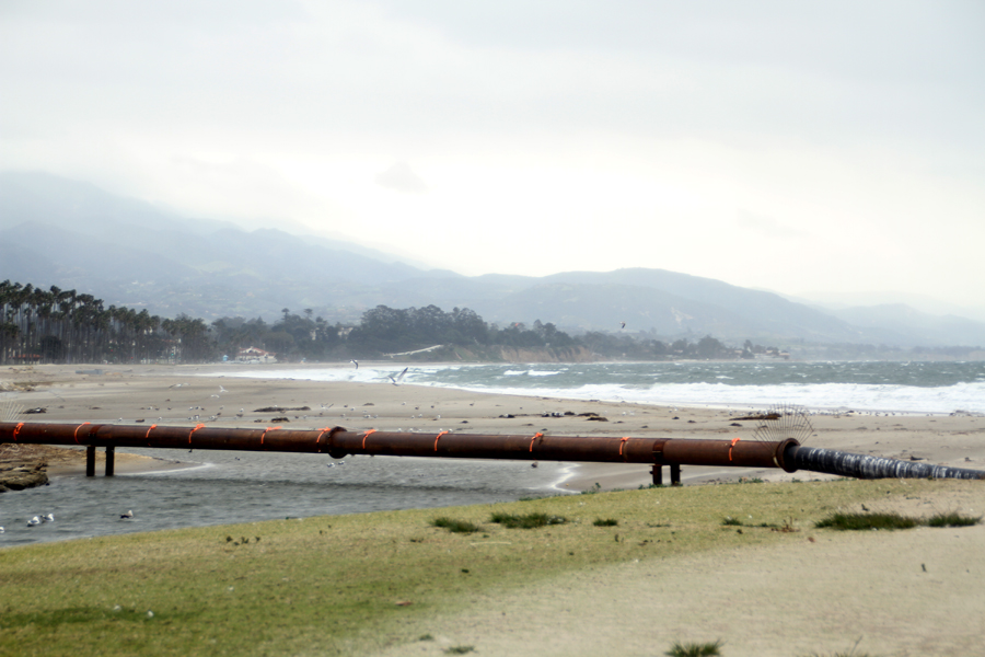 Big Wind and waves on this Santa Barbara Beach, California, Travel, Vacation