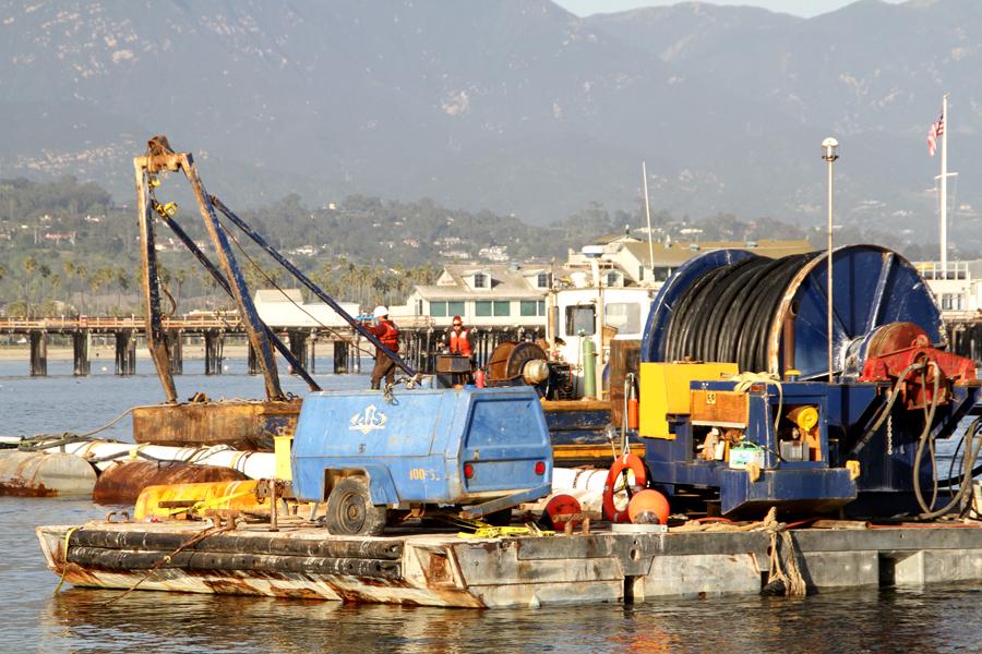 Tsunami damage, travel, santa barbara CA, ocean, beach, cleaning up from tsunami