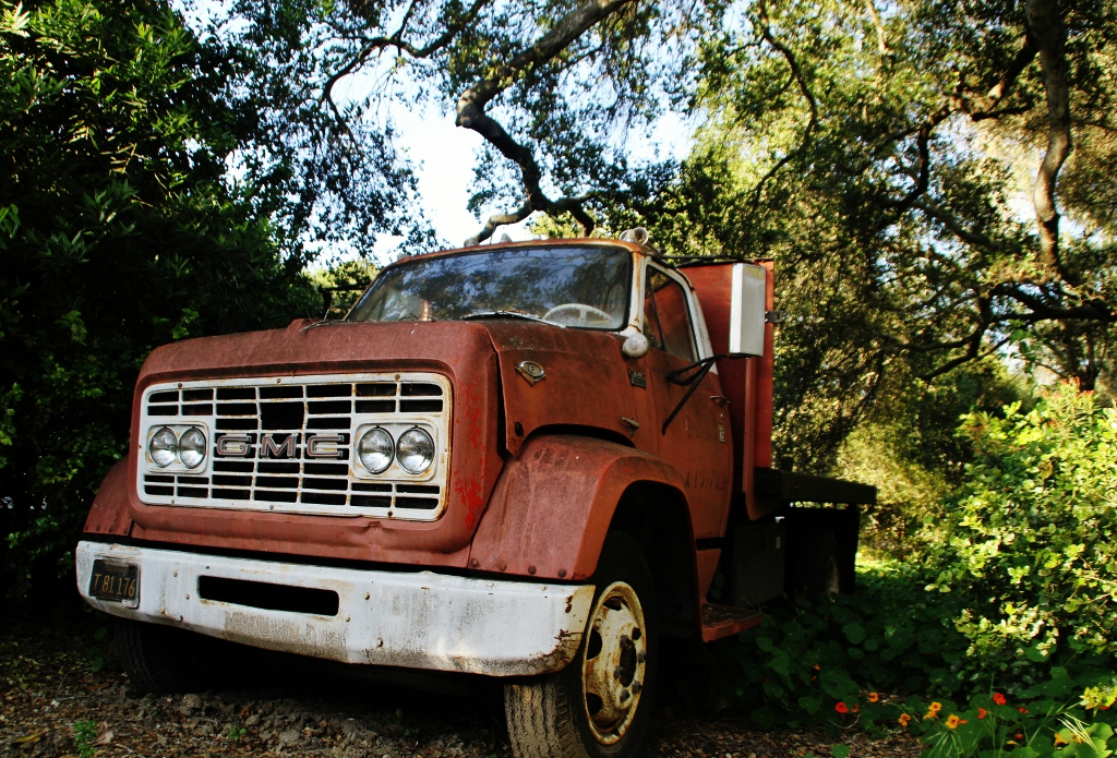 Vintage Truck, Santa Barbara California, Travel, Museum of Natural History
