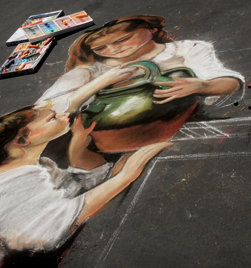 I Madonnari Street Painting Festival, Santa Barbara CA, travel, Day Trip, Mission