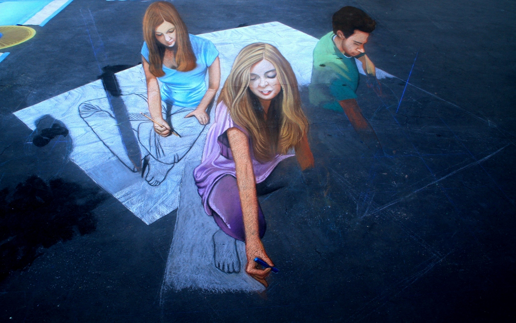 Street Painting Festival, Santa Barbara CA, Travel, Day Trip, Art,  I Madonnari