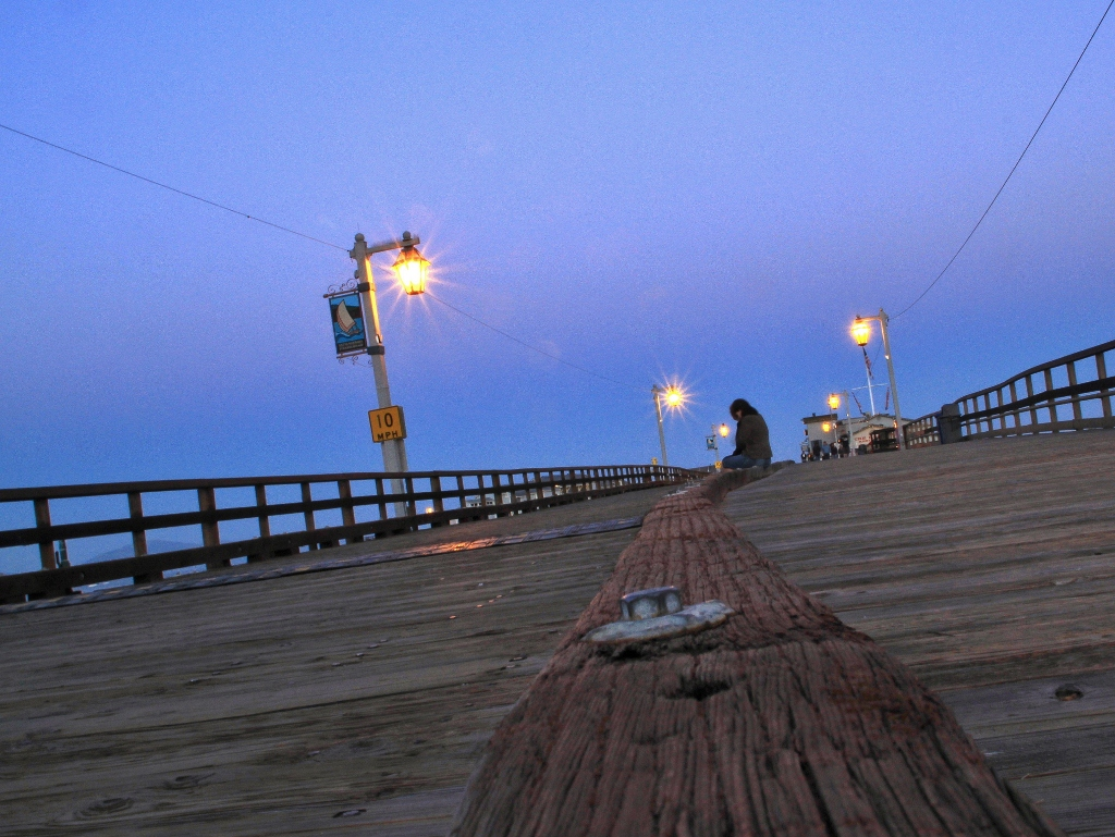 night shots, Stearn's Wharf, Santa Barbara CA, Travel, Julie Plevak