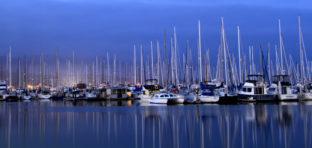 Blue Hour Photography, Santa Barbara CA, travel, Julie Plevak, Harbor, Boats