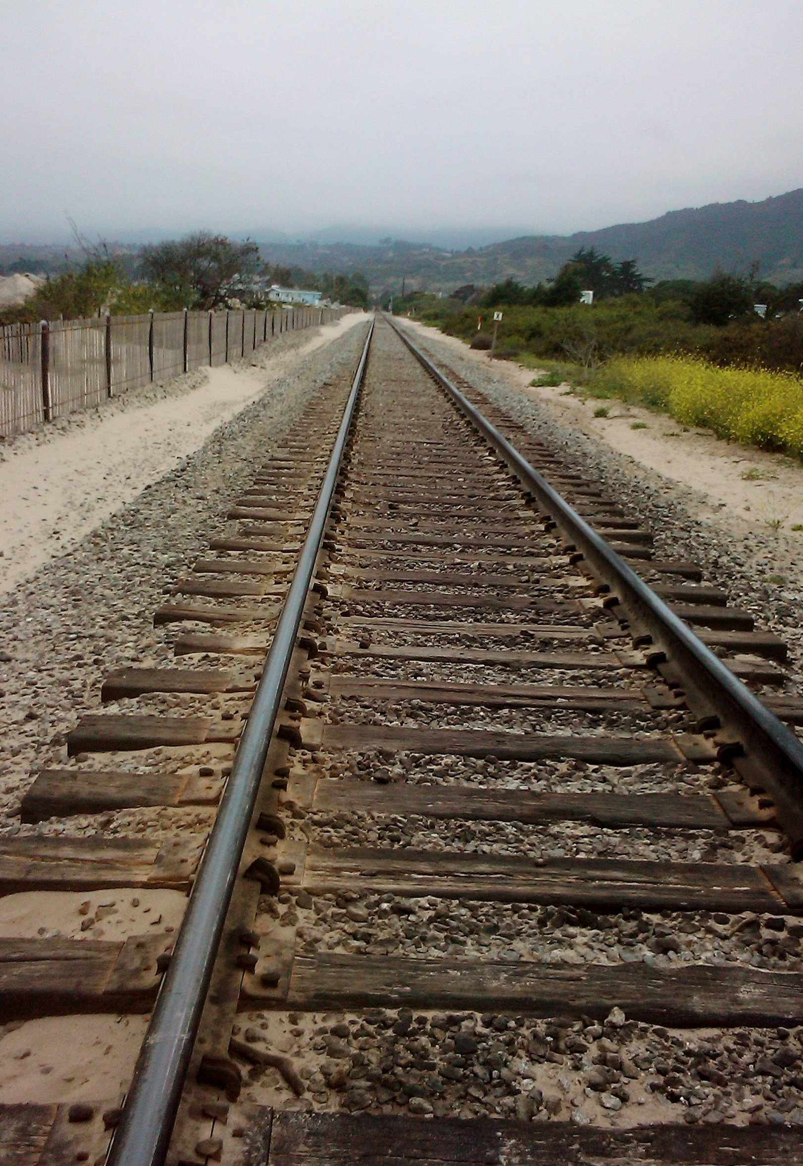 Santa Claus Lane Beach, Carpinteria CA, Day Trip, travel, Julie Plevak, Train Tracks