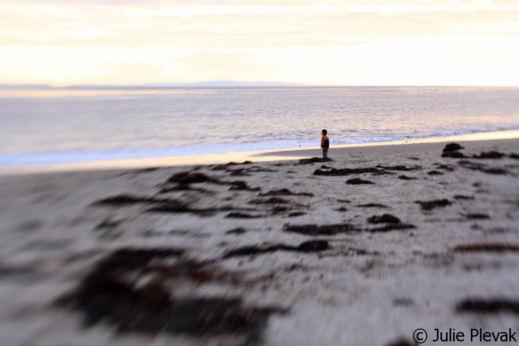 Lensbaby Composer, Boy On Beach, 52 Week Photo Project