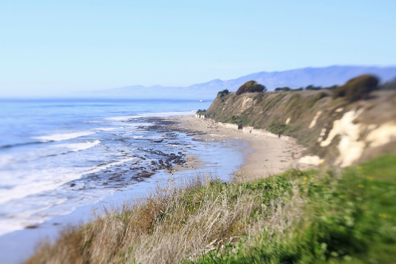 Coastline in Santa Barbara, California, beach, travel, vacation