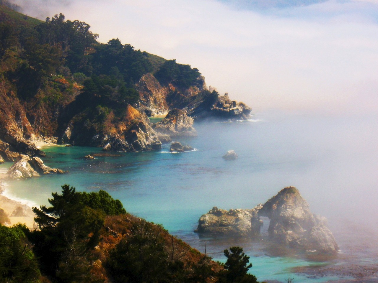Big Sur, California, Travel, Cove, Ocean, Beautiful Cove