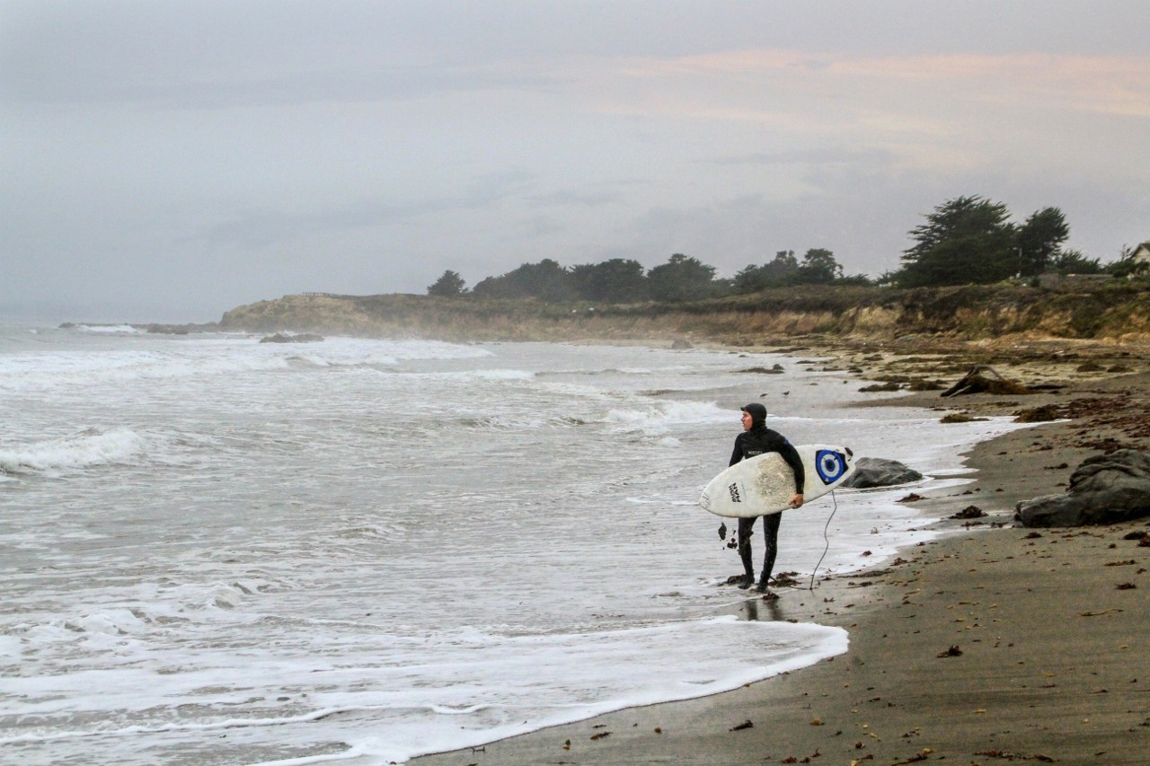 Julie Plevak-Moonstone Beach Surfer Cambria Ca