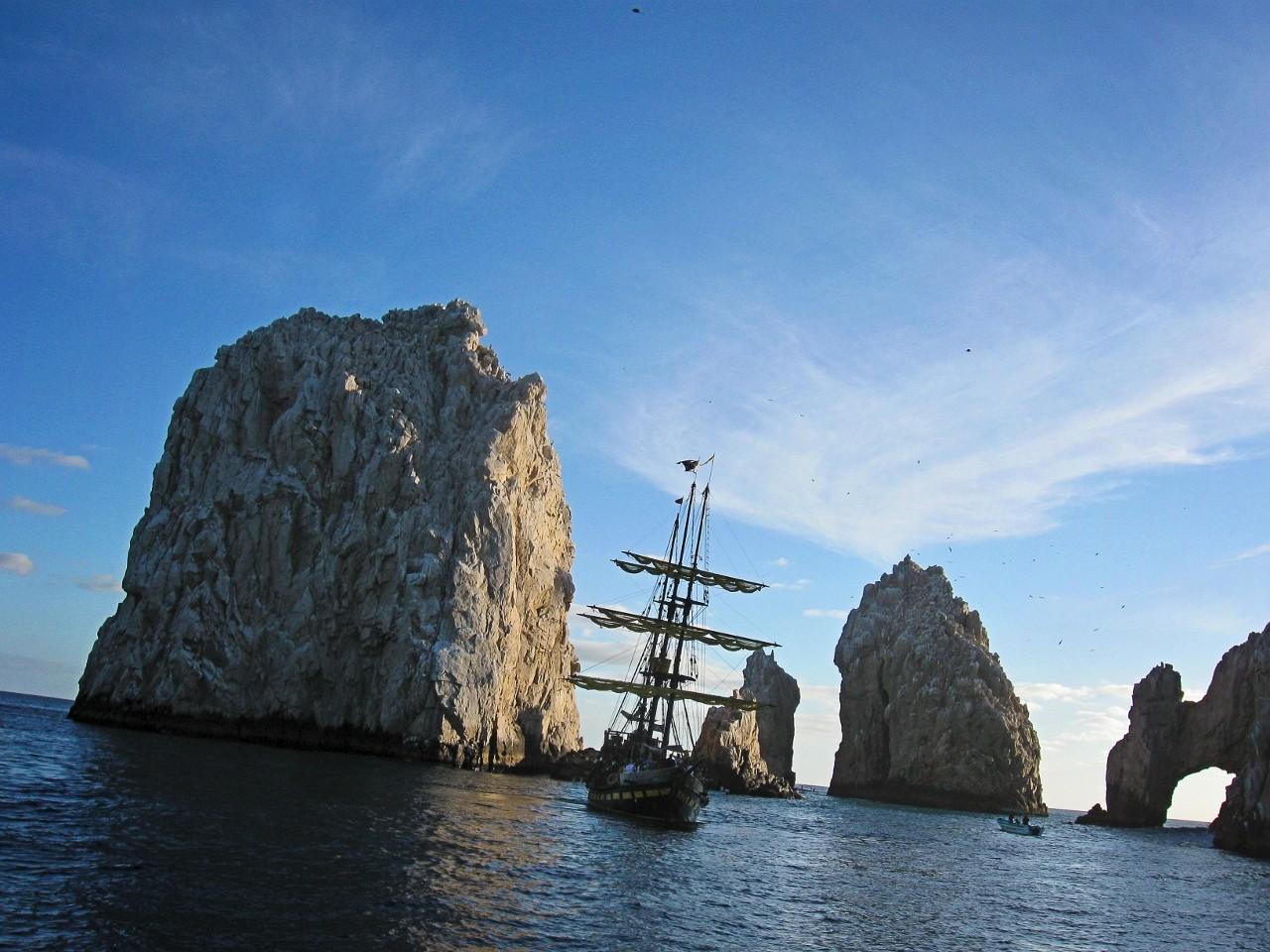 Cabo San Lucas, Baja California Sur, Mexico, Pirate ship, sailing, Buccaneer Queen in Cabo