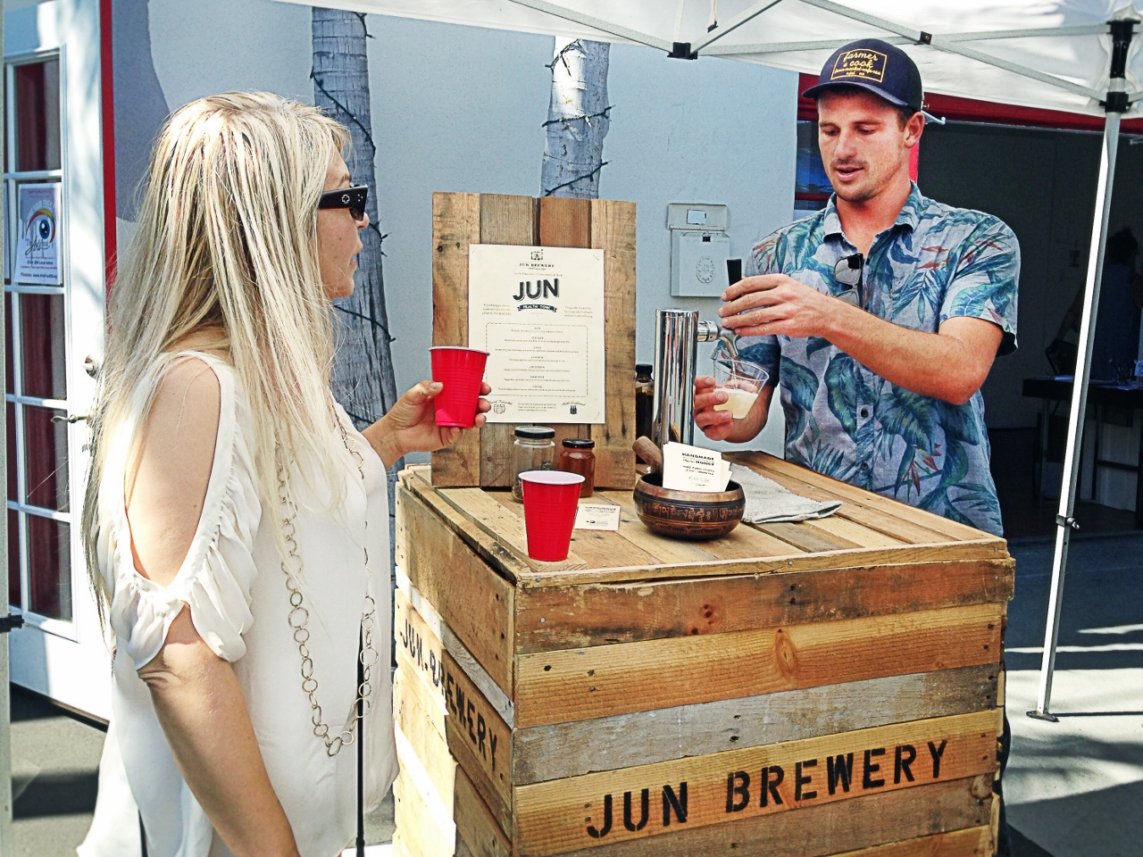Funk Zone Tasting, Jun Brewery, Santa Barbara by Julie Miche