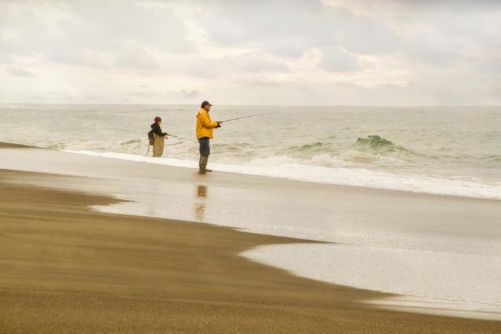 Ocean Fishing on Moonstone Beach in California