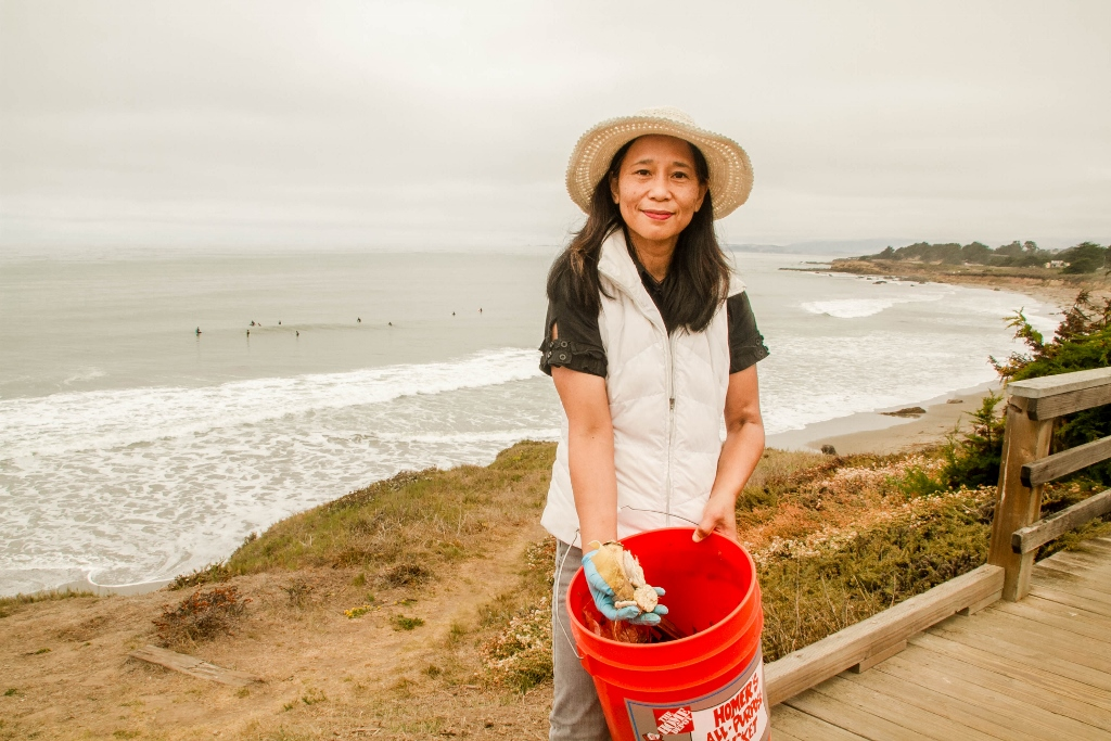 Cleaning up the coast of Cambria, CA, Volunteer for Coastal Clean-Up Day, Eco Tourism