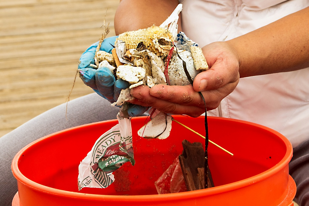 Trash on the beach, Coastal Clean-Up Day, Eco Tourism in Cambria, CA
