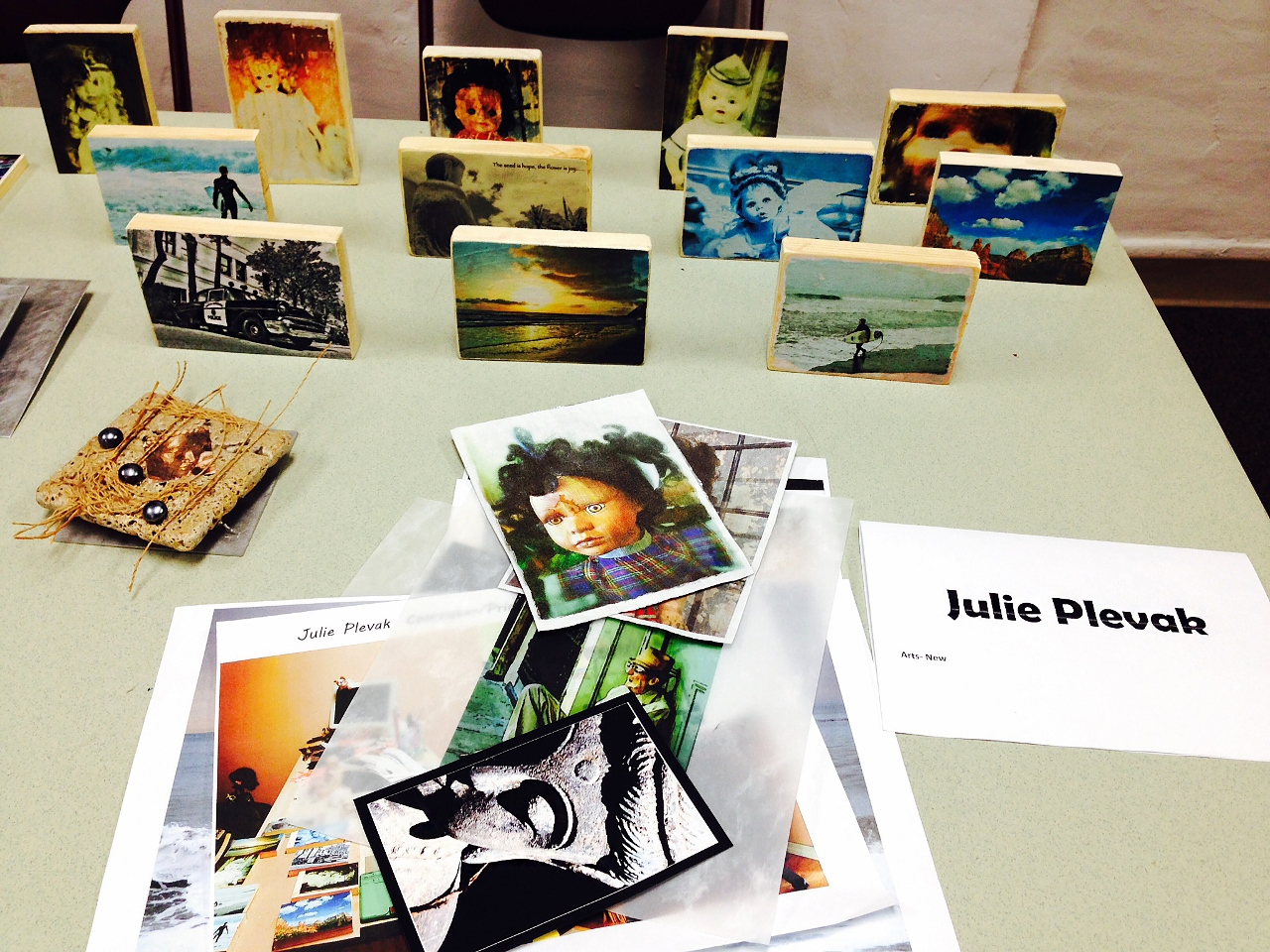 Photos waiting to be screened for art show