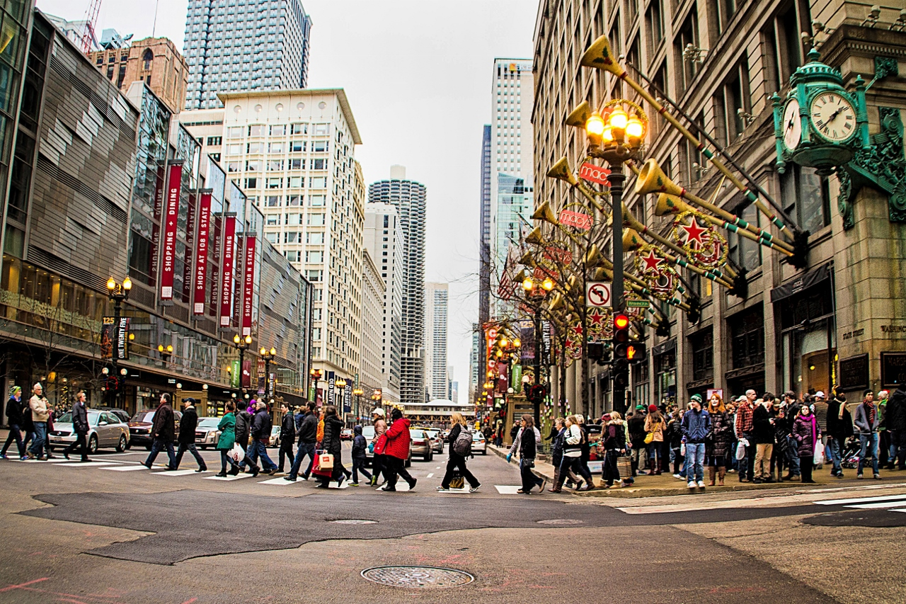 Chicago Christmas.A Chicago Christmas Manipulated Reality