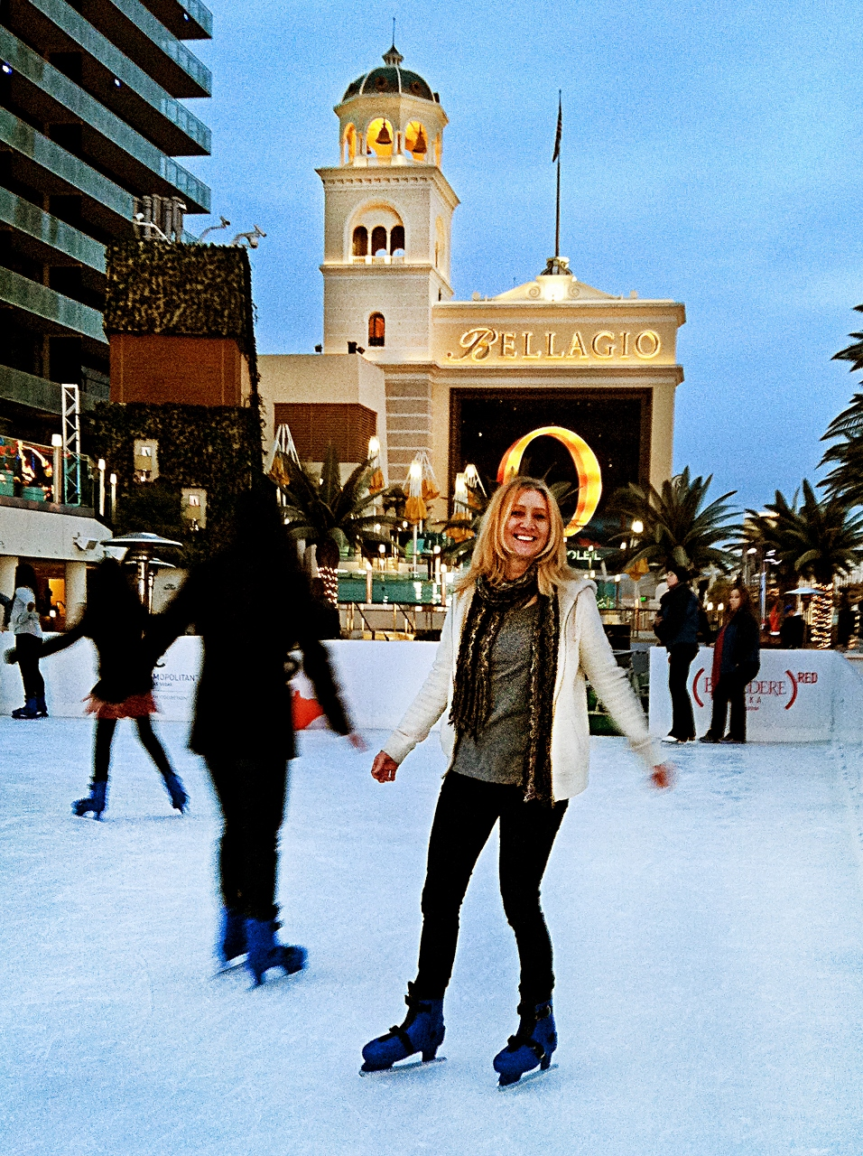 Ice Skating at The Cosmopolitan Vegas in the winter