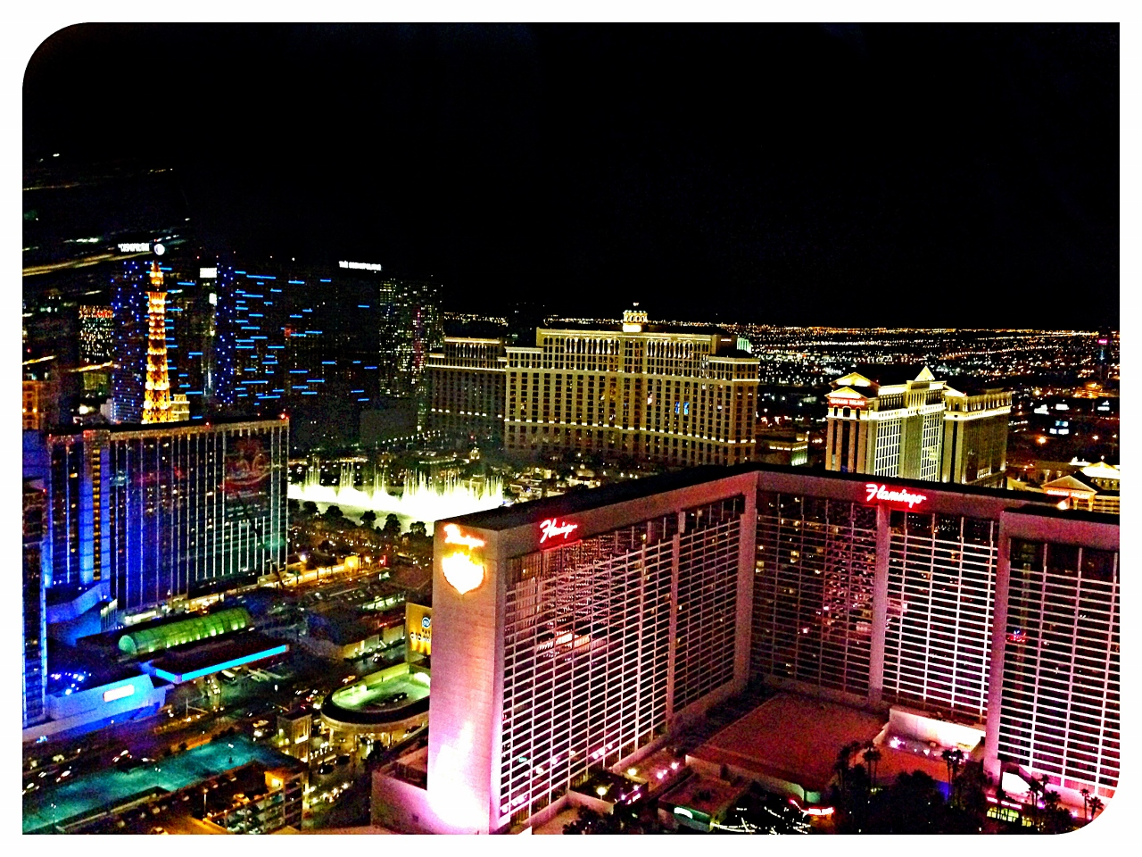 High Roller view of the strip in Vegas