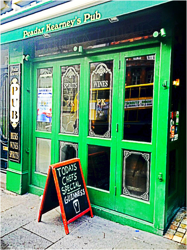 1st pint in Dublin, Ireland at Peadar Kearney's Pub