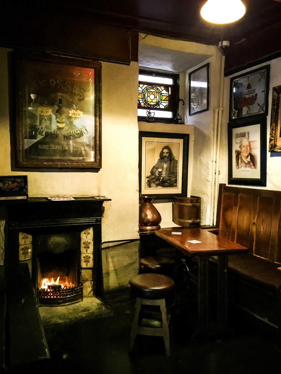 Galway Ireland Cozy fireplace in The Quays by Julie Miche travel blogger