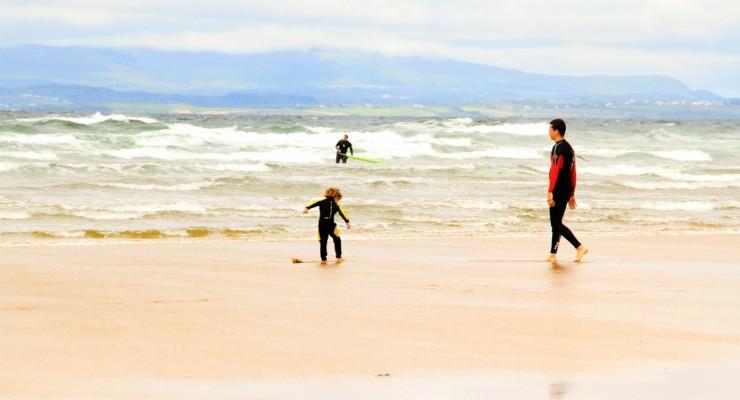 Surf, swim, play in the water, Bundoran Ireland