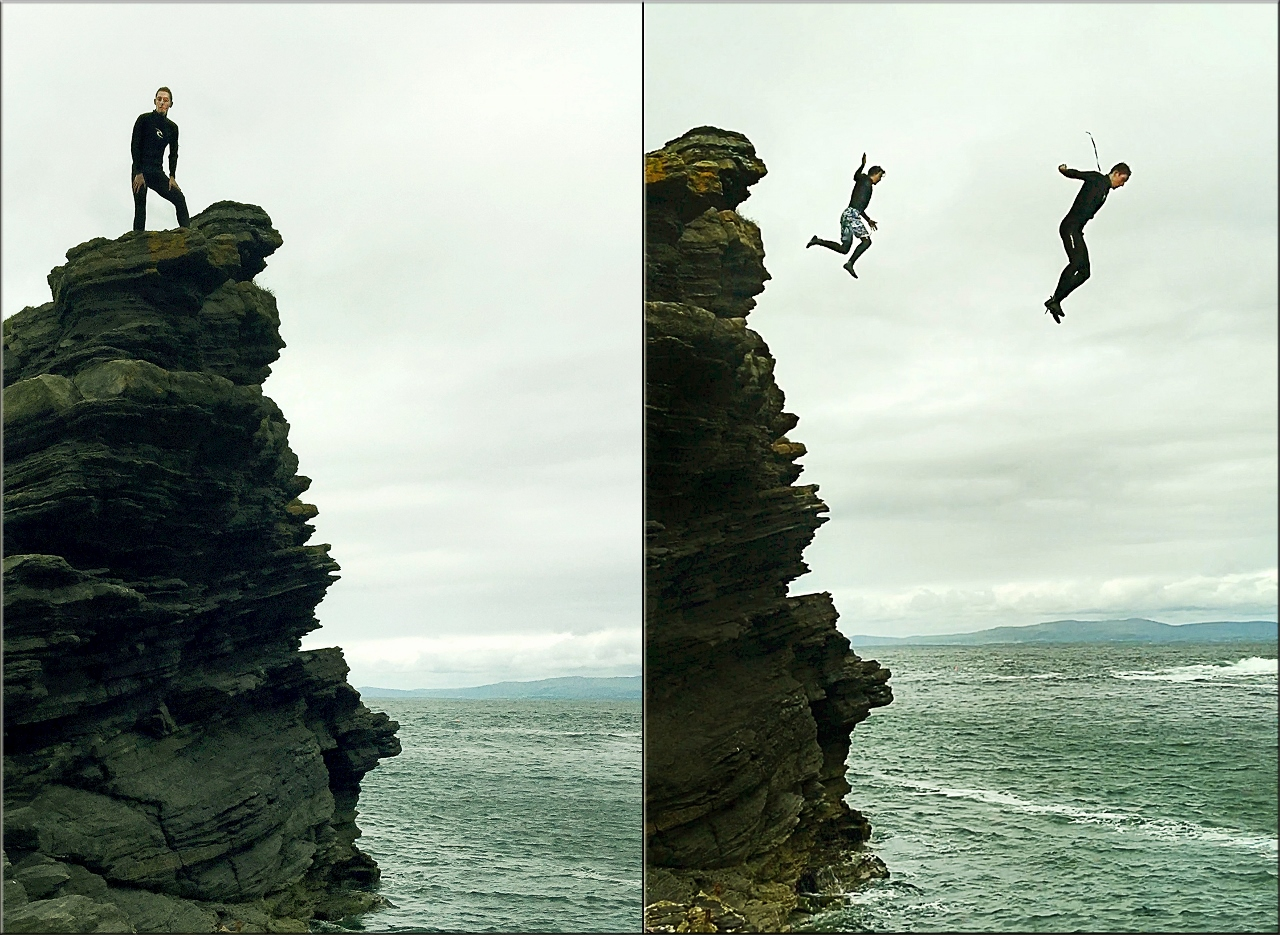 Cliff jumpers, adventure seekers  Things To Do In Bundoran, Ireland by Julie Miche