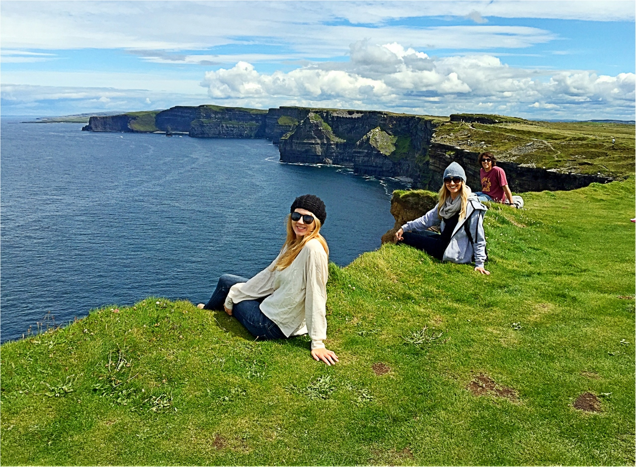 Hanging out at the Cliffs of Moher in Liscannor, County Clare, Ireland, traveling in Ireland