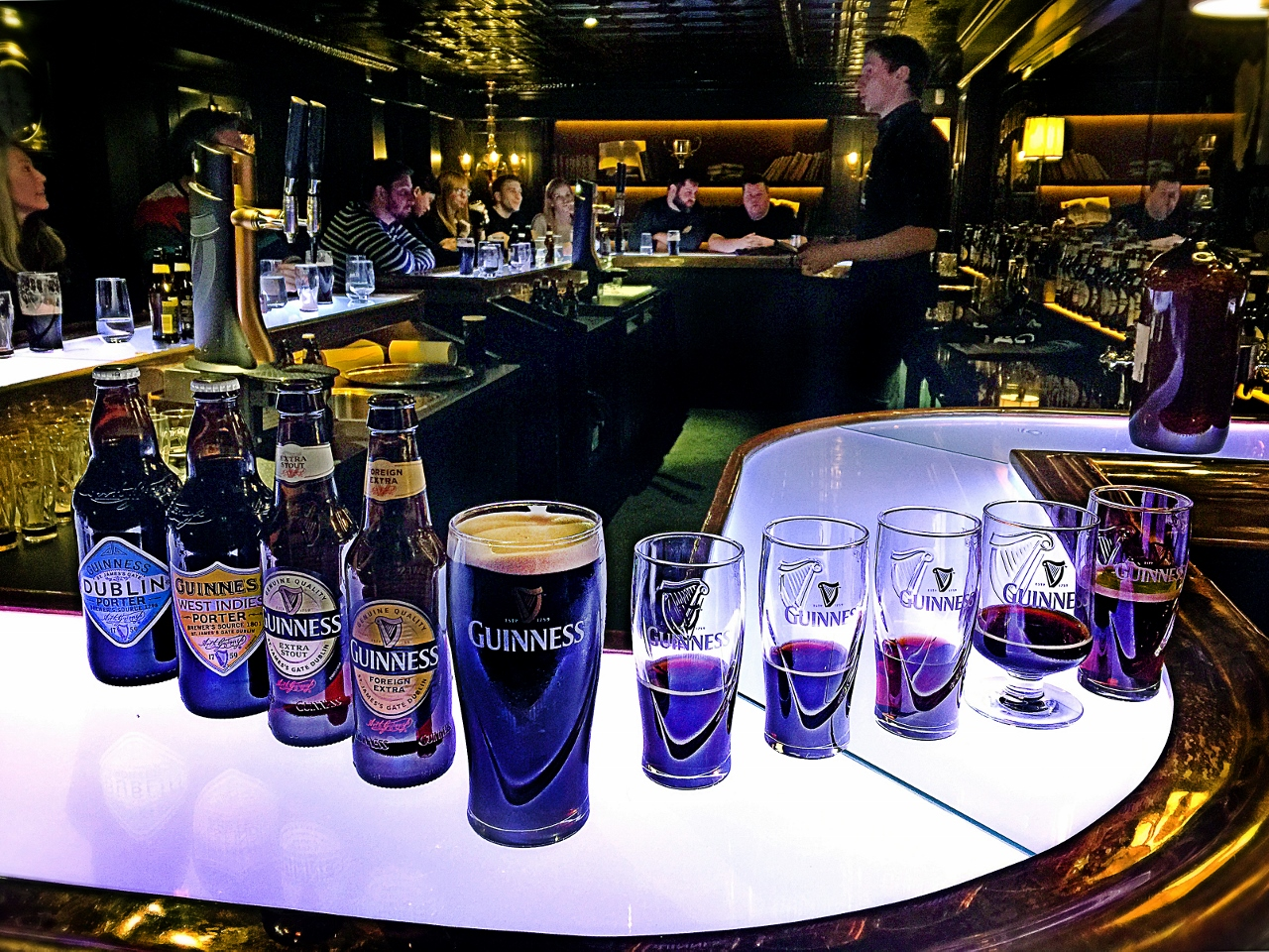 Tasting Guinness at the Connoisseur Experience in Dublin Ireland