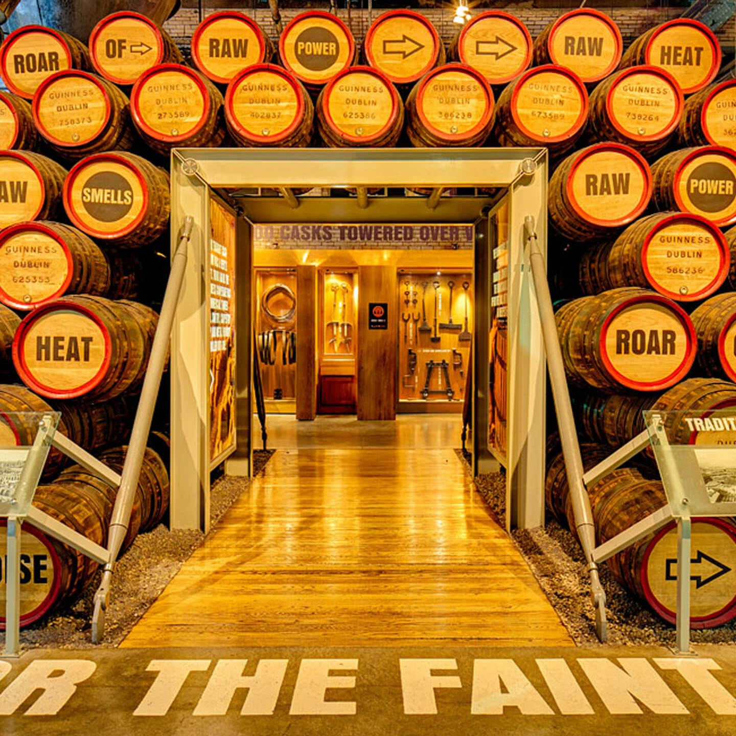 Barrels for beer at Guinness