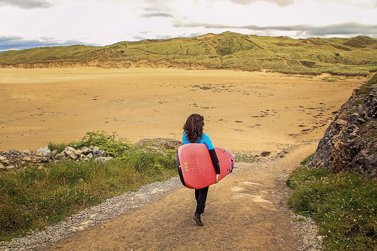 Tullan Strand in Bundoran, Ireland for surfing, traveling in Ireland