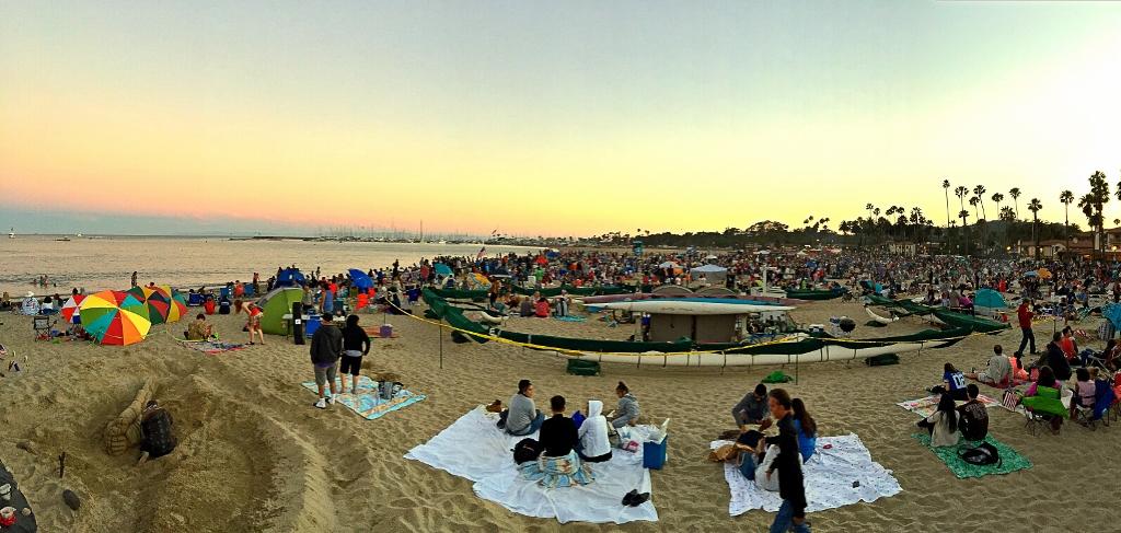 Santa Barbara West Beach 4th of Julu