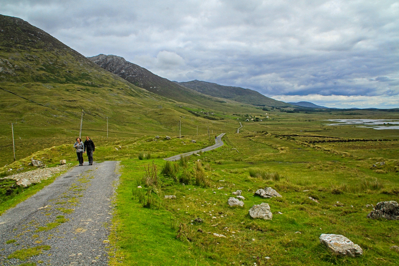 Hiking in Inagh Valley, Connemara, Ireland