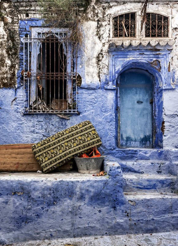All the streets and houses are painted blue, Morocco Photo Tours