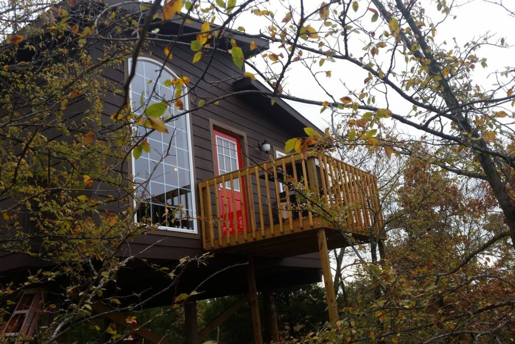 Eufaula luxury treehouse, Stigler, Oklahoma airbnb