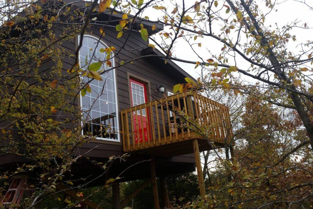Eufaula luxury treehouse, Stigler, Oklahoma airbnb