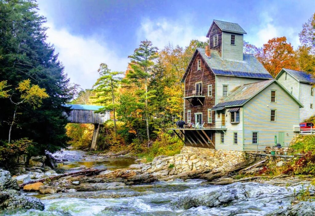 Stay at the Kingsley Grist Mill in Clarendon, Vermont